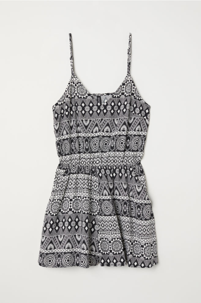 7995b6b9a5 Jumpsuit - Black white patterned - Ladies
