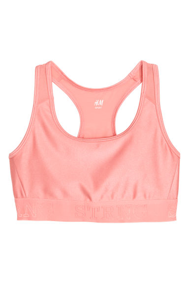 Sport-bh - Medium support - Lichtroze -  | H&M NL