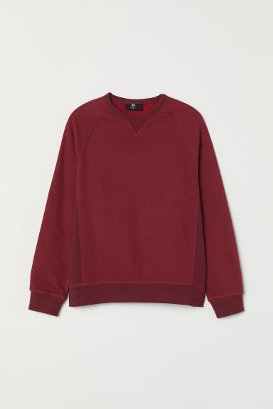 Sweatshirt Loose Fit - Burgundy - Men | H&M