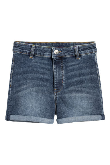 Shorts in twill High Waist - Blu denim - DONNA | H&M IT