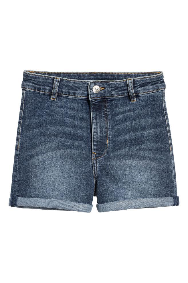 4835610871a Twill Shorts High Waist - Denim blue - Ladies | H&M ...