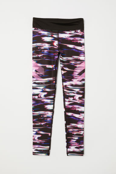 Sports tights - Black/Multicoloured - Kids | H&M