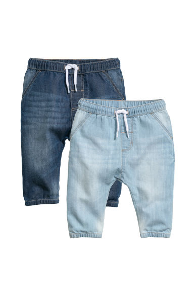 Joggers in denim, 2 pz - Blu denim - BAMBINO | H&M IT