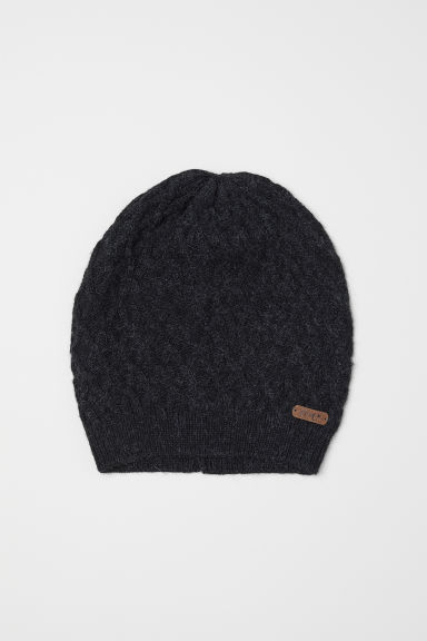 Cable-knit hat - Dark grey - Kids | H&M