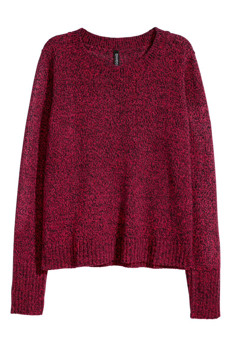 Knitted jumper - Red marl - Ladies | H&M
