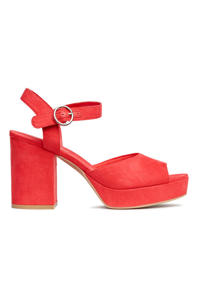 4a090ae9d683 Platform sandals - Bright red - Ladies