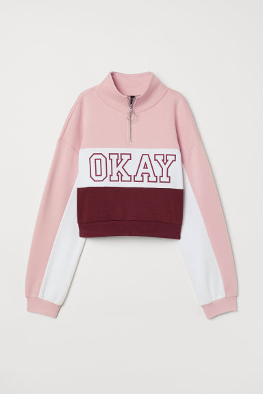 H&M+ Sweater met kraag - Lichtroze/Okay - DAMES | H&M BE