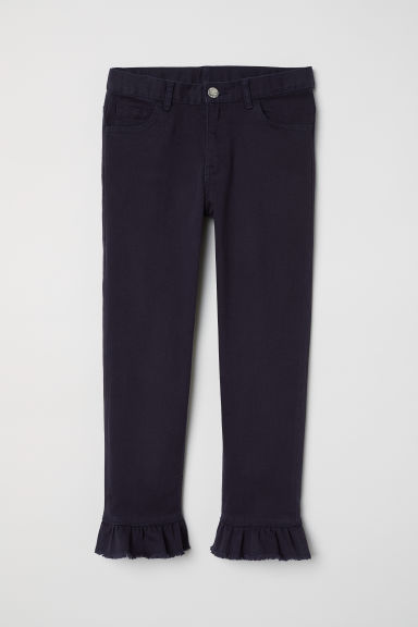 Pantaloni a tre quarti volant - Viola scuro -  | H&M IT