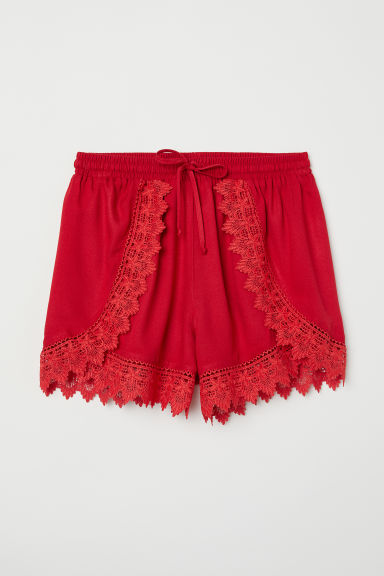 Short met kant - Rood - DAMES | H&M BE
