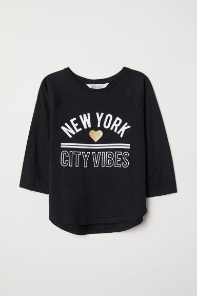 Top in jersey con stampa - Nero/New York - BAMBINO | H&M IT