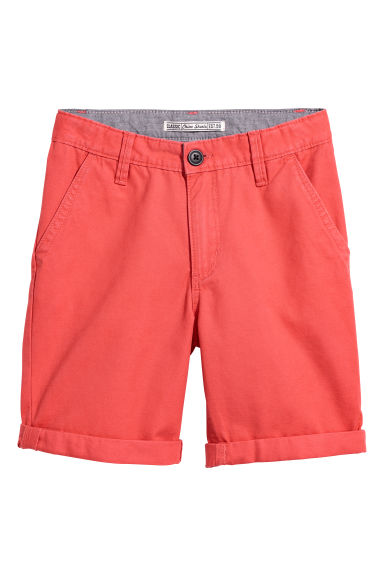 Chino shorts - Red -  | H&M