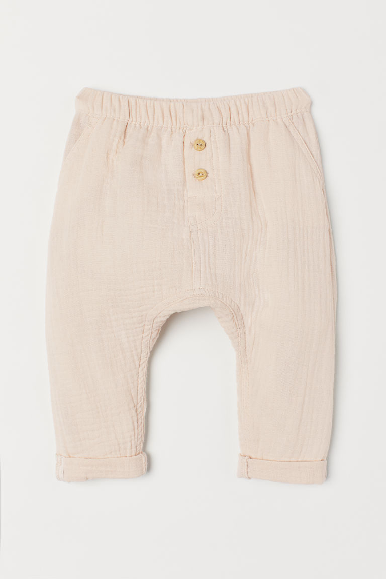 Cotton trousers - Light beige - Kids | H&M GB