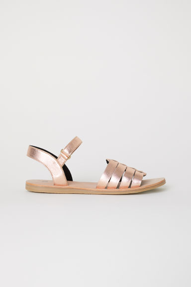 Leather sandals - Rose gold-coloured - Kids | H&M
