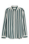 Dark green/White striped