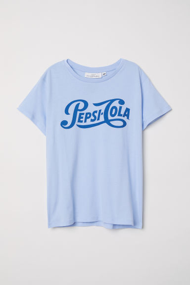 Printed T-shirt - Light blue/Pepsi-Cola -  | H&M GB