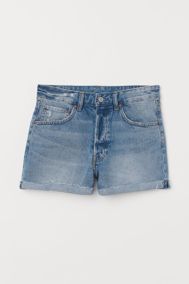 Jeansshorts Mom Fit - Blau -  | H&M DE