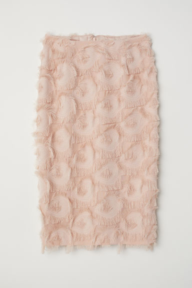 Skirt with fringing - Powder pink - Ladies | H&M