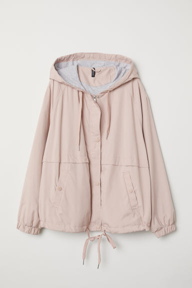H&M+ Hooded jacket - Powder pink - Ladies | H&M CN