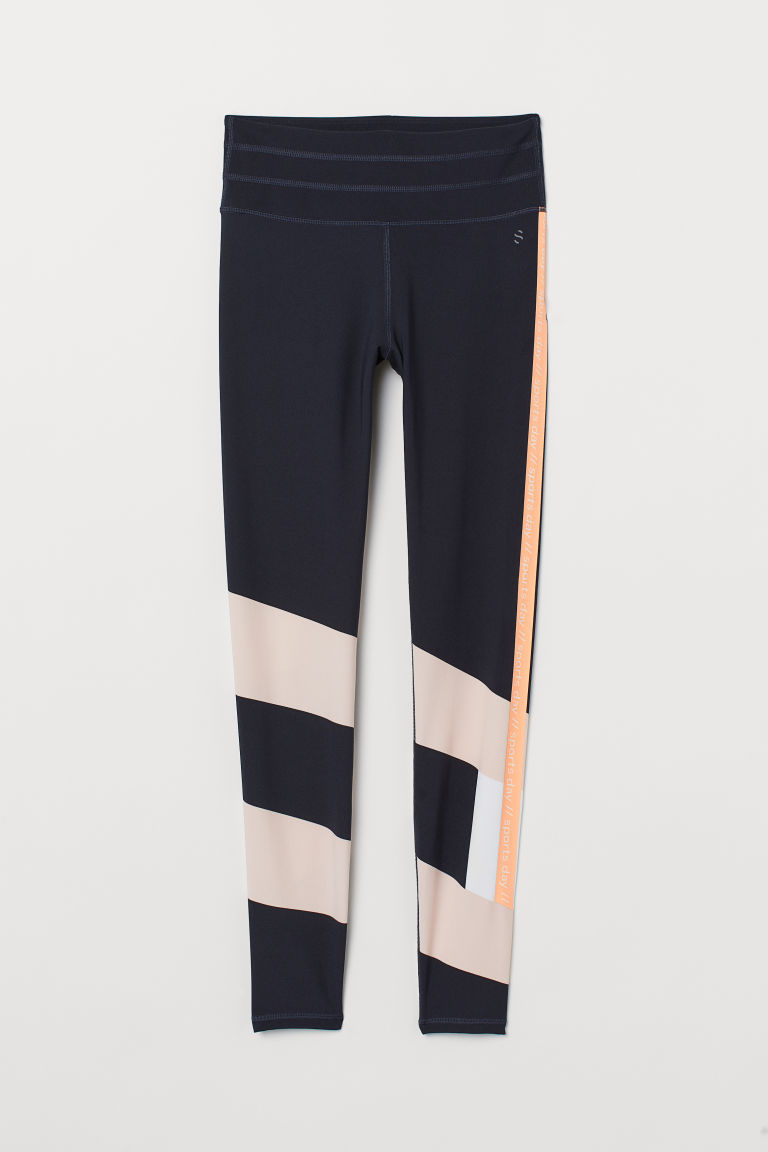 Leggings sport Shaping waist - Blu scuro/Sports day - DONNA | H&M IT