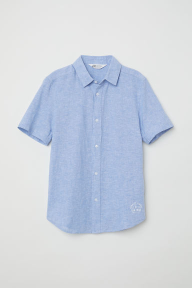 Short-sleeved shirt - Light blue - Kids | H&M