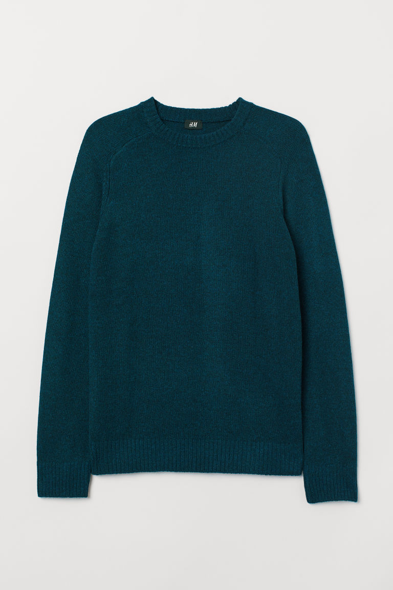 Fine-knit jumper - Petrol - Men | H&M CN