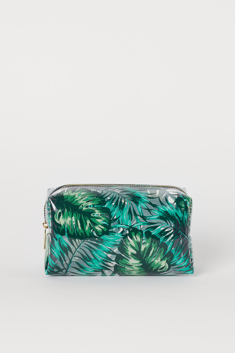 Transparent Makeup Bag - Black/leaves -  | H&M CA