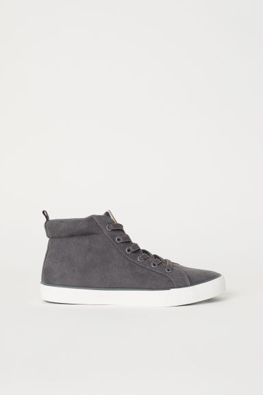 Hi-top trainers - Dark grey - Kids | H&M