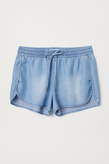 Lyocell shorts - Light blue - Ladies | H&M