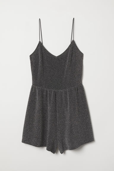 Playsuit - Black/Glittery -  | H&M CN