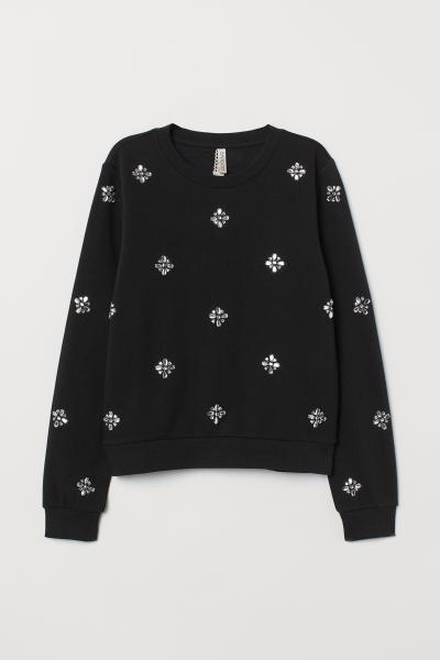 H&M - Sweatshirt with appliqués - 5