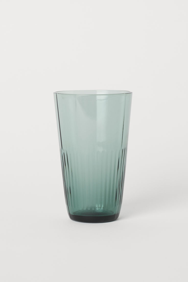 Tall Beverage Glass - Green -  | H&M CA