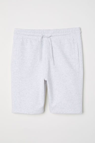 Sweatshirt shorts - Light grey marl - Men | H&M