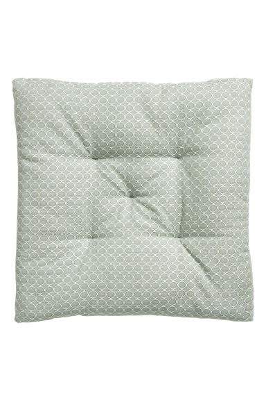Jacquard-weave seat cushion - Dusky green/Patterned - Home All | H&M GB