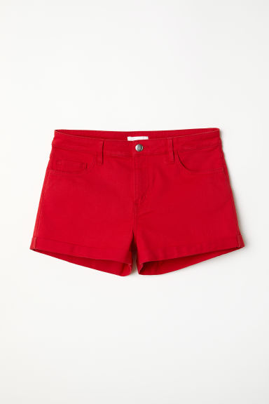 Short twill shorts - Bright red - Ladies | H&M