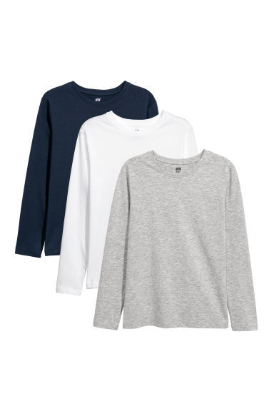 3-pack jersey tops - Dark blue - Kids | H&M