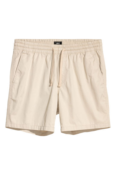 Katoenen short - Relaxed fit - Lichtbeige - HEREN | H&M BE