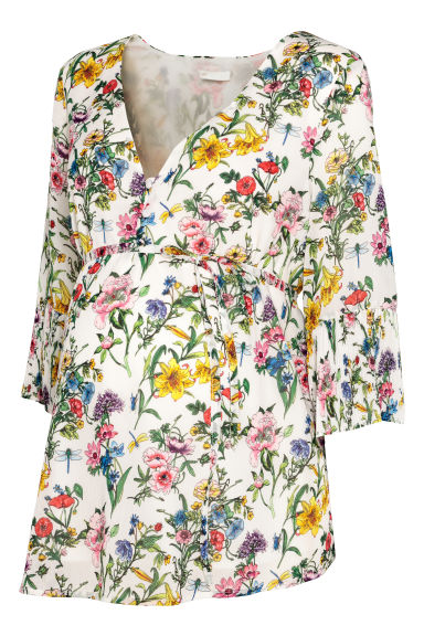 MAMA Blouse - White/Floral - Ladies | H&M CN