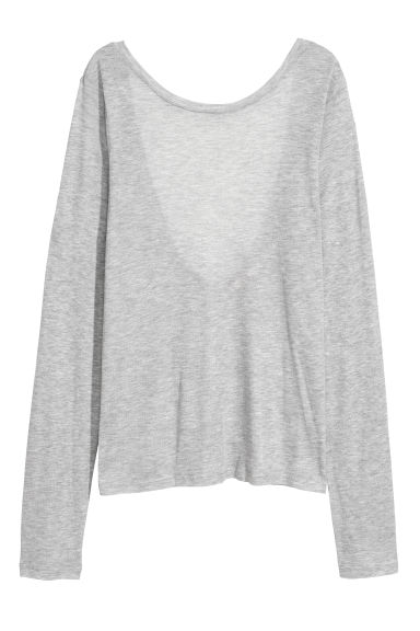 Top with a low-cut back - Grey - Ladies | H&M