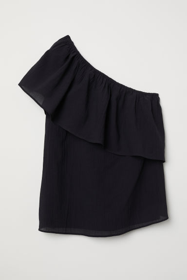 One-shoulder Top - Black - Ladies | H&M US