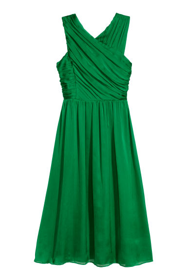 Draped dress - Green - Ladies | H&M CN