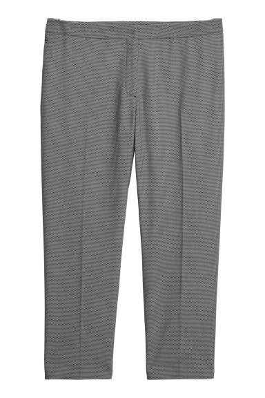 H&M+ Tailored trousers - Black/Patterned -  | H&M