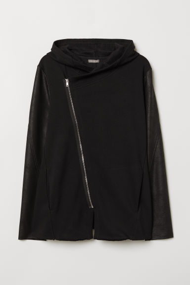 Hooded cardigan - Black - Men | H&M