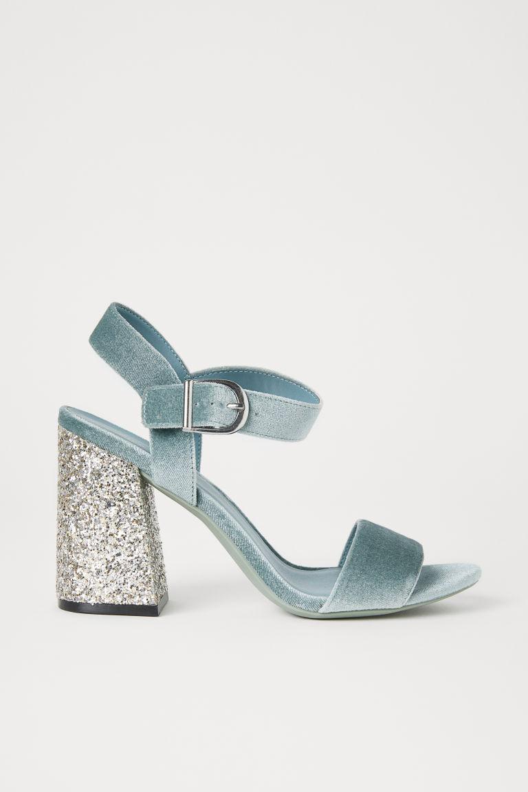 Sandalias con tacón grueso - Turquesa claro - MUJER | H&M ES 1