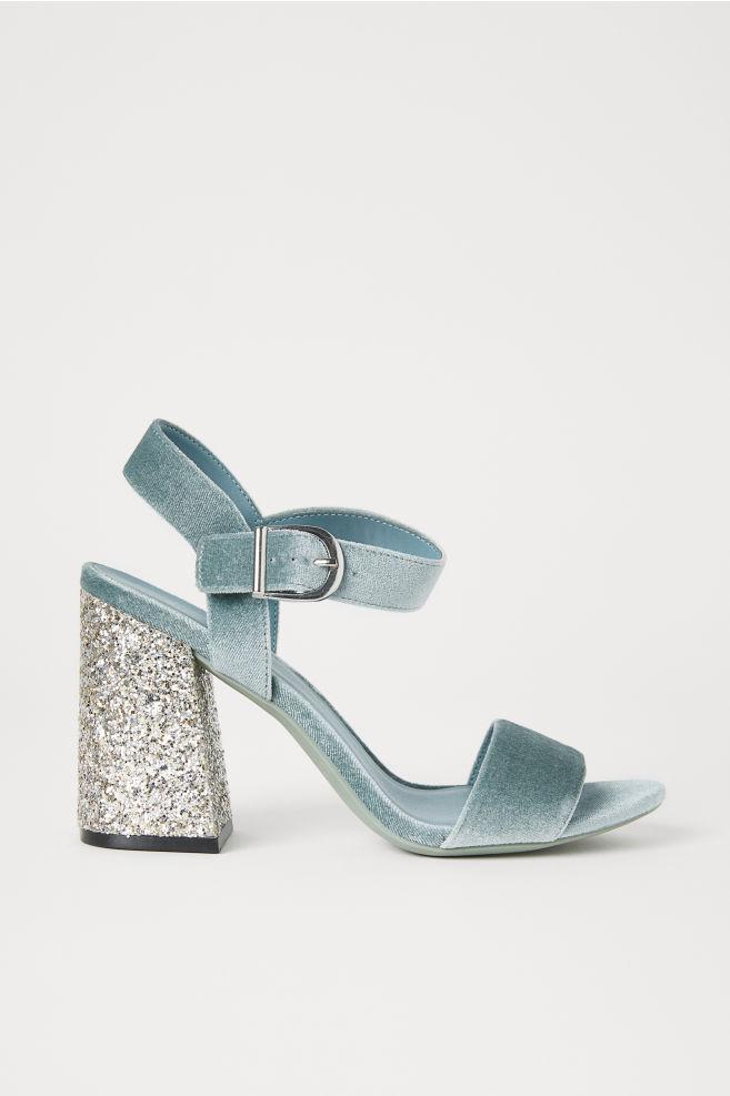 351e6d2c8 Block-heeled sandals - Light turquoise - Ladies