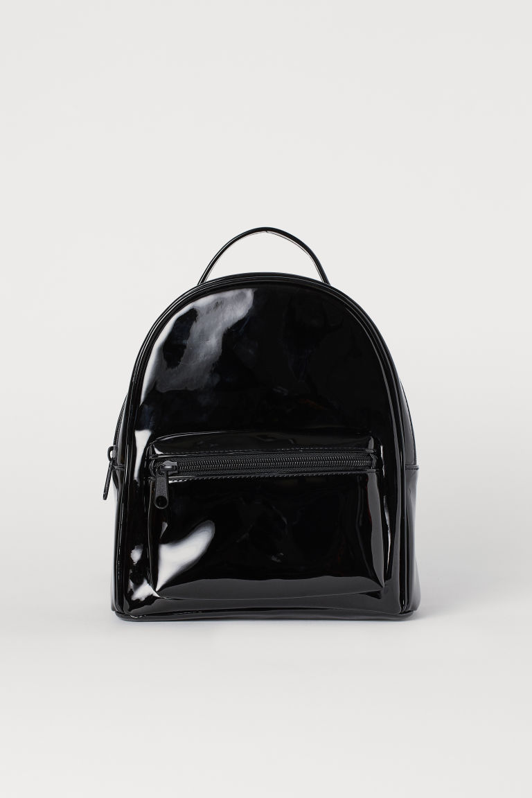 Small Backpack - Black/patent -  | H&M US