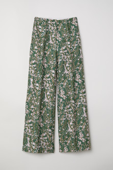 Jacquard-patterned trousers