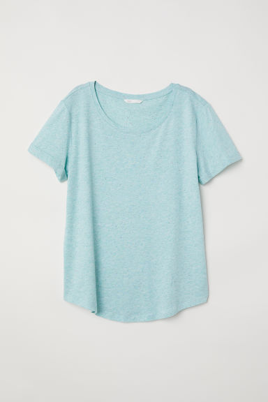 T-shirt in jersey flammé - Turchese chiaro/neps - DONNA | H&M IT