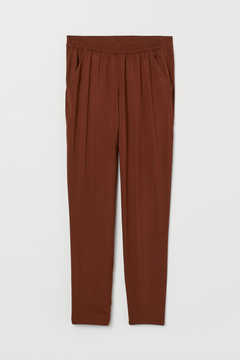 Pull-on trousers - Brown -  | H&M
