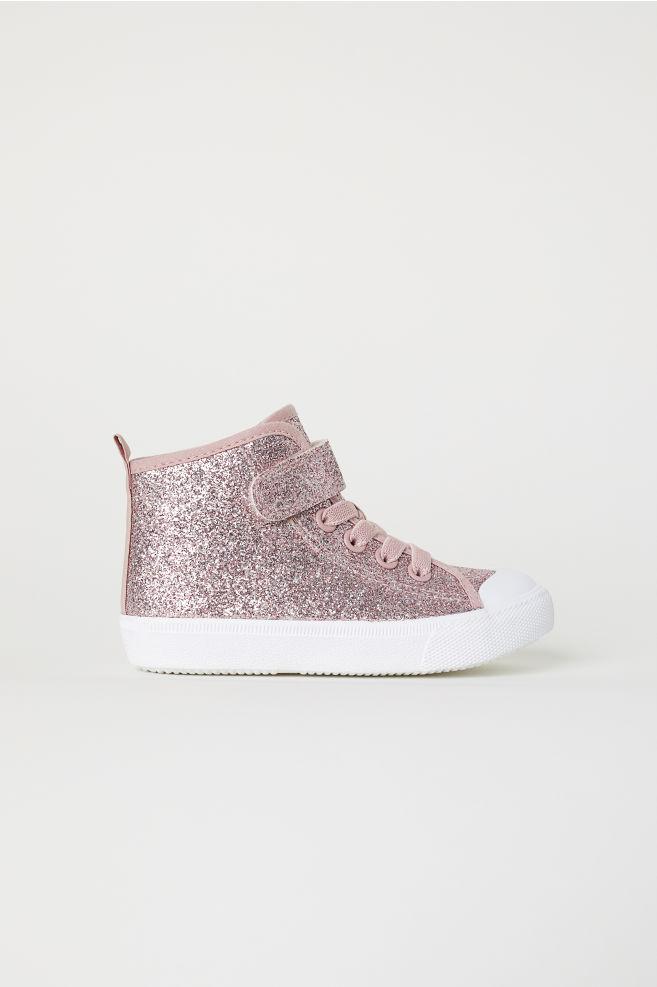 6666bf95075bc3 Knöchelhohe Sneaker - Rosa Glitzer - Kids