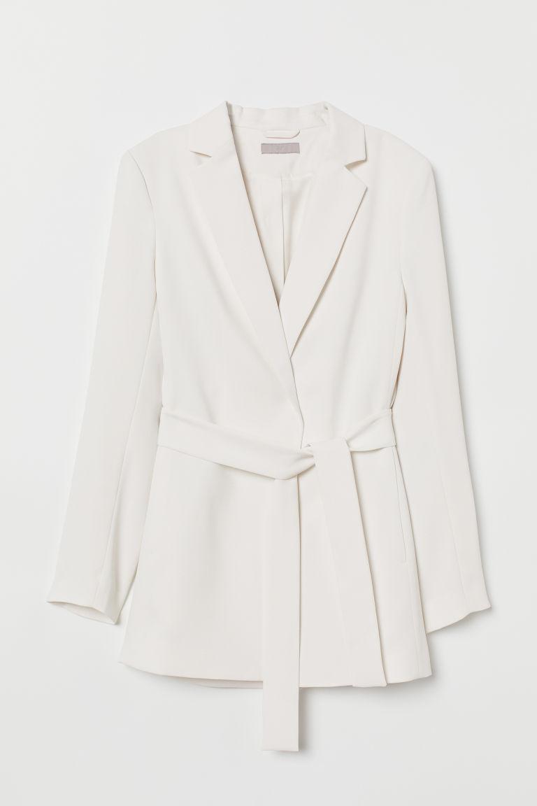 all'ingrosso online codice coupon piuttosto fico Jacket with Tie Belt - White - Ladies   H&M US